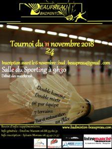 Tournoi Beaupréau 2018