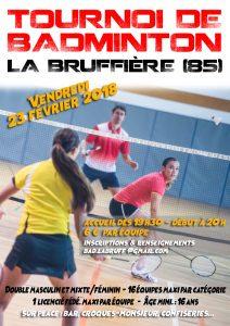 Tournoi La Bruffière 2018