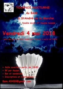 Tournoi Saint André de la Marche 2018