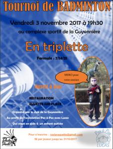 Tournoi Triplette La Guyonnière 2017