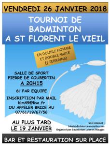 Tournoi St Florent le Vieil 2018