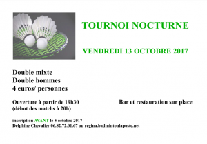 Tournoi Bégrolles 2017