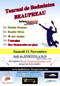 Tournoi Beaupréau 2017